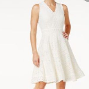 A Pea In The Pod White Crochet Floral Dress